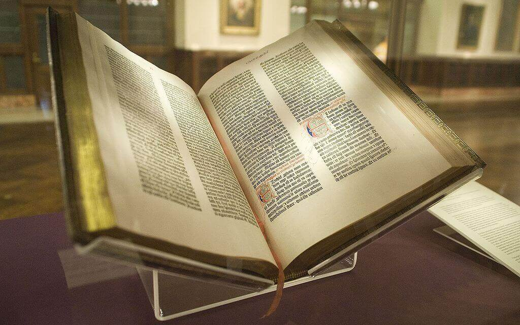 Gutenberg Bible from Printing Press