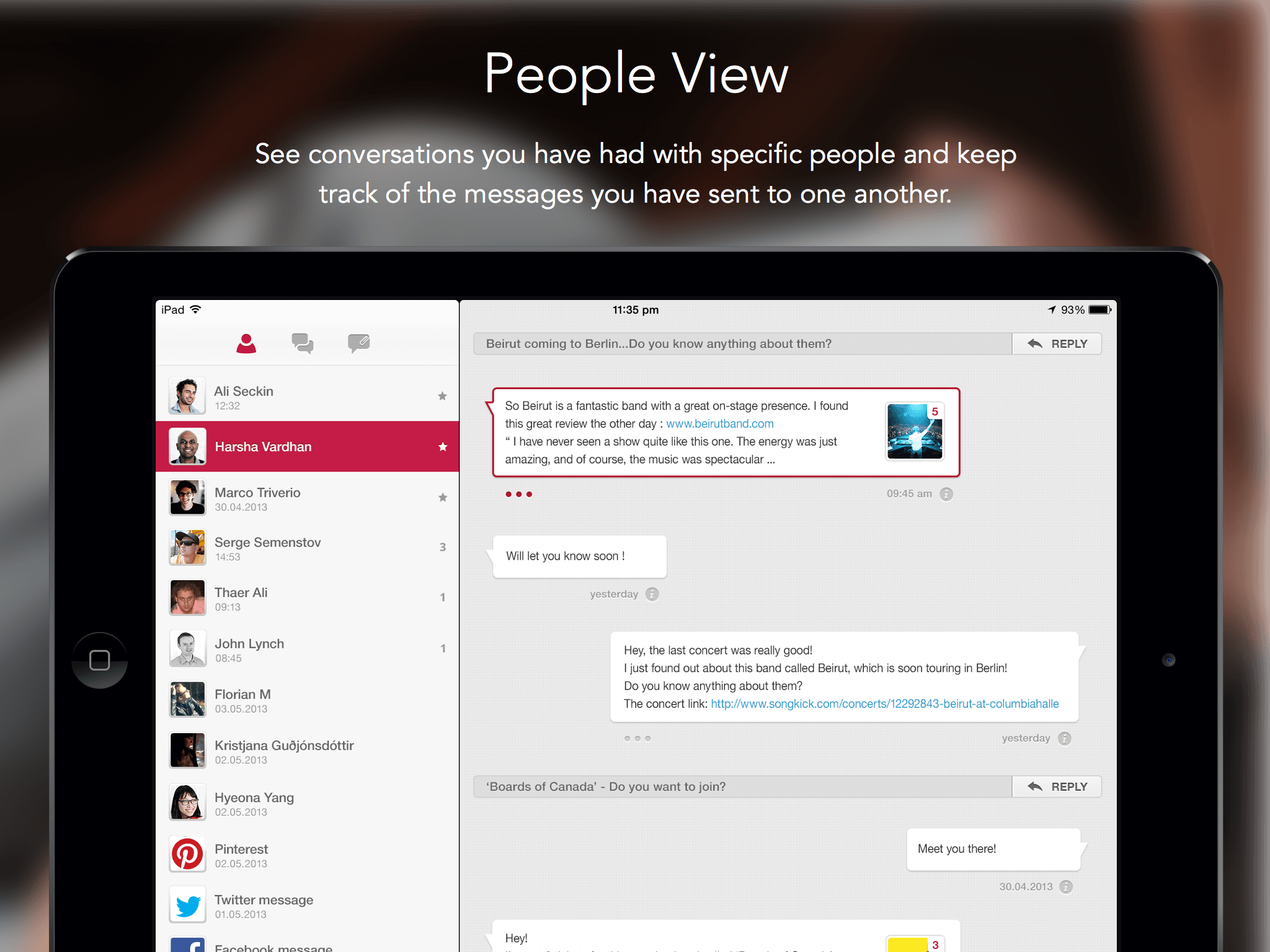 Persona Email Client People View